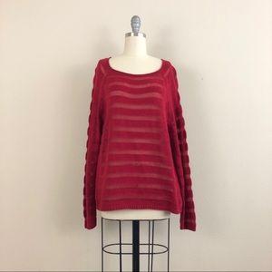 Eileen Fisher Organic Cotton Striped Knit Sweater